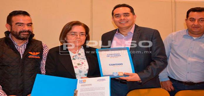 PAN y MC registran ante el Ceepac la alianza Contigo por San Luis