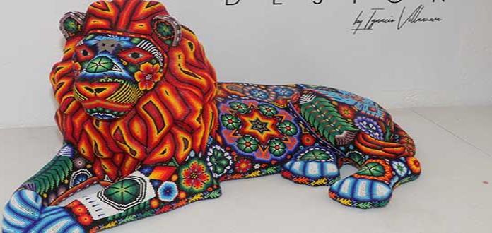 Arte moderno y tradicional wirrarika se conjuga en piezas de Arte Huichol