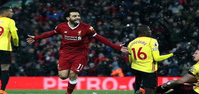 Salah encandila en victoria de Liverpool, 5-0 ante Watford