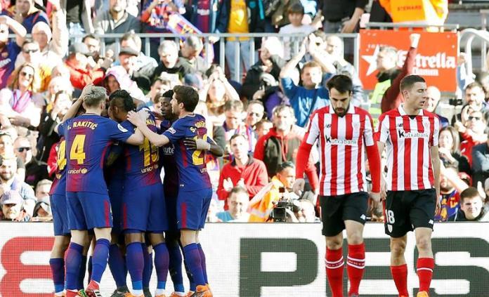 Barcelona continúa su invicto al vencer al Athletic de Bilbao