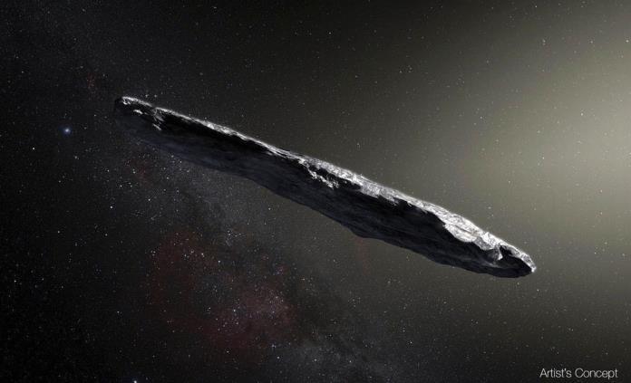 Detectan asteroide que provino de otro sistema solar