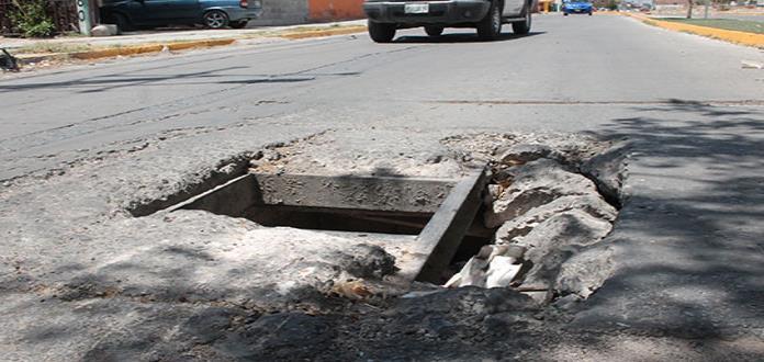 """""""Trampa mortal"""", registro abierto en Av. Tenochtitlán"""