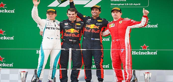 Daniel Ricciardo sorprende y gana el GP de China