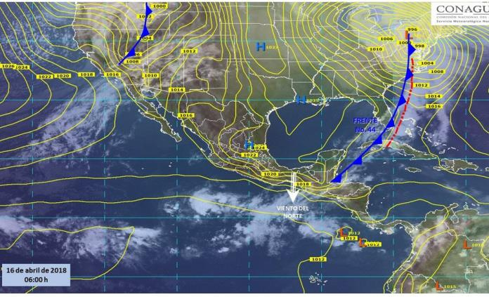 Nuevo frente frío ocasionará vientos fuertes y tolvaneras en el norte del país