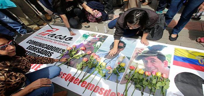 Ofrece Cruz Roja facilitar traslado de cuerpos de periodistas a Ecuador