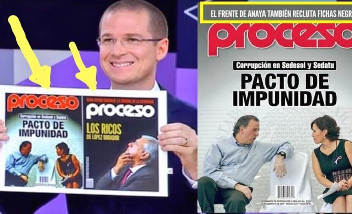 Debate: Anaya editó portada de Proceso para ocultar señalamientos al Frente