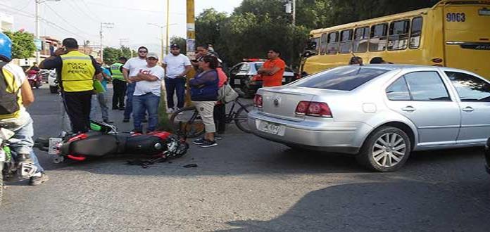Adolescente resulta lesionado tras accidente en La Lomita