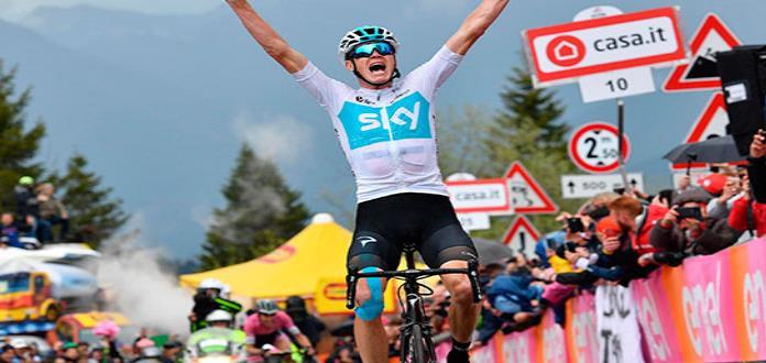 Chris Froome ya es líder del Giro de Italia