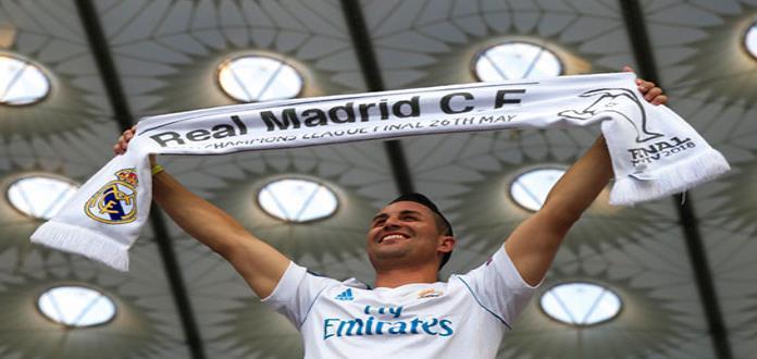 El Real Madrid llega al estadio para la final de la Champions League
