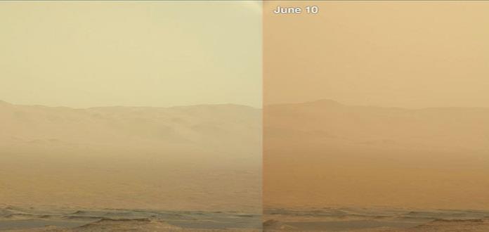 Tormenta de polvo en Marte deja sin batería a sonda de NASA