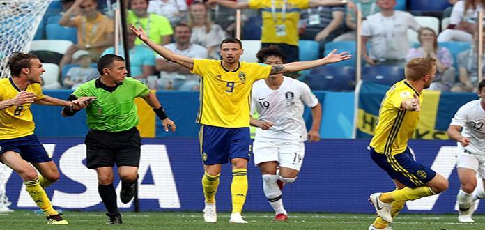 Con penal, Suecia gana a Corea del Sur por 1-0