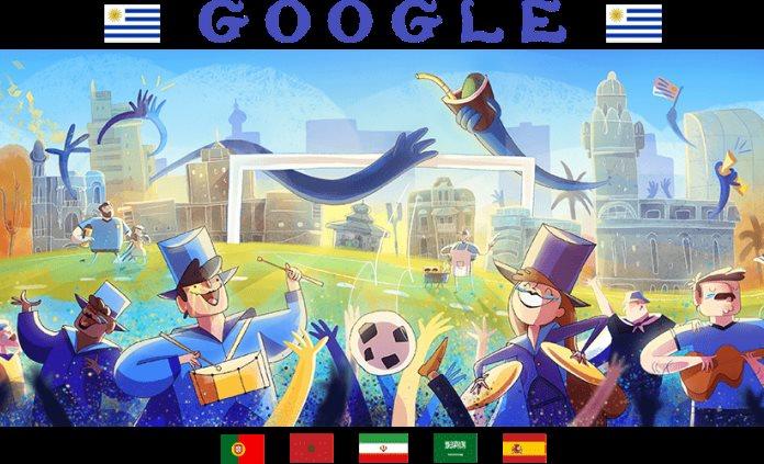 Google destaca en doodle partidos del séptimo día en Mundial de Rusia