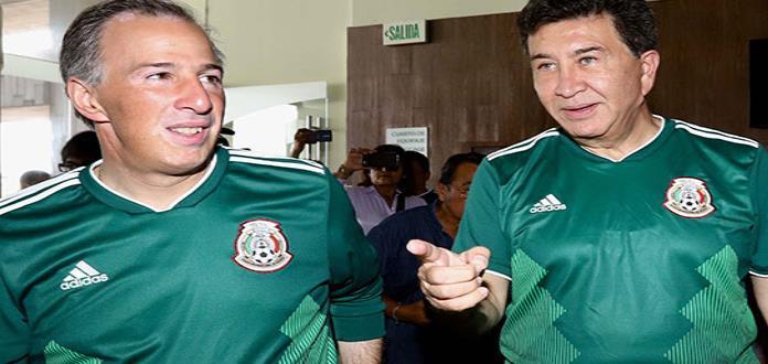 Anaya y Meade festejan triunfo de México en el Mundial