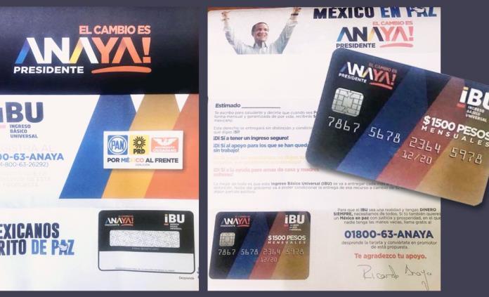 Morena pide sancionar a Anaya por reparto de tarjetas