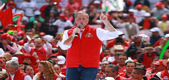 Meade llama al diálogo, armonía y unidad al cerrar campaña en Toluca