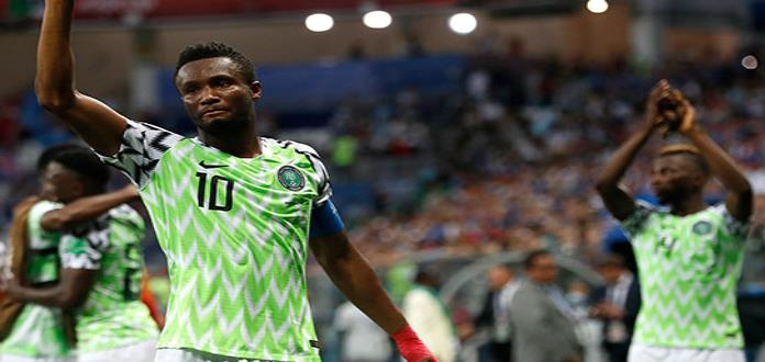 Nigeriano Mikel jugará fracturado de mano ante Argentina en Rusia 2018