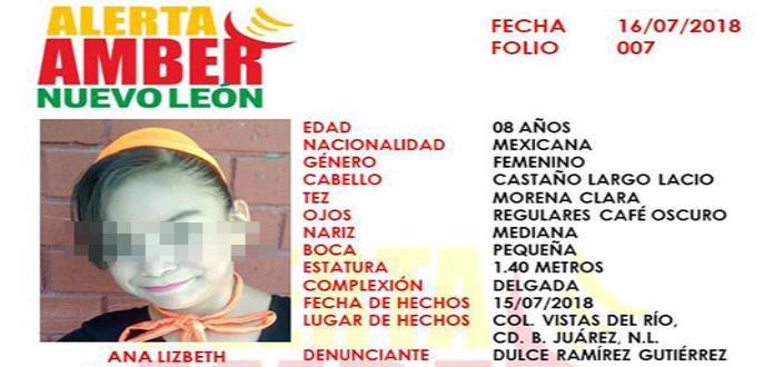 Hallan muerta a una niña en lote baldío de Nuevo León