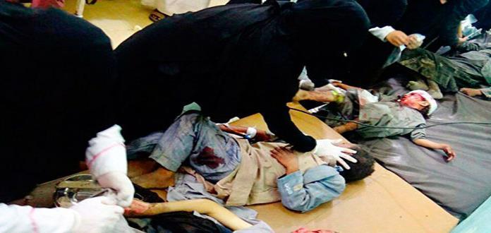 Bombazos matan a decenas de niños