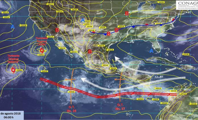 Chubascos, fuertes vientos y altas temperaturas, el pronóstico de hoy para SLP