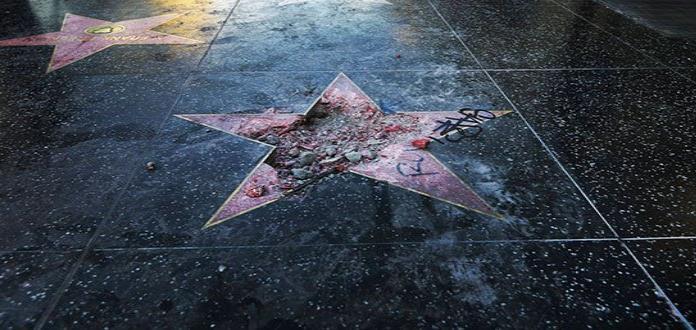 Ultraderecha pega estrellas en Paseo de la Fama en homenaje a Trump