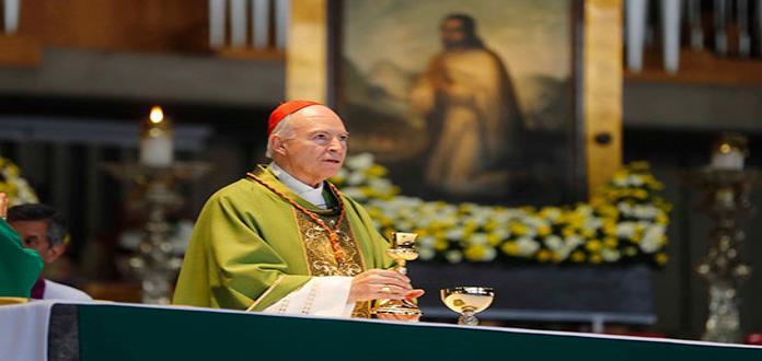 Pide el cardenal Aguiar Retes orar por el gobierno de México