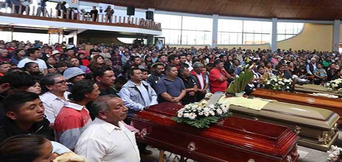 Tlahuelilpan, pueblo que  despide a sus fallecidos