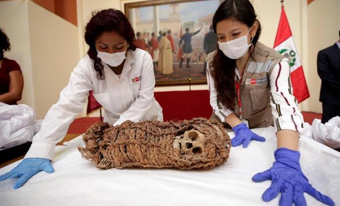 Perú recupera la momia de un bebé de unos dos mil años de antigüedad