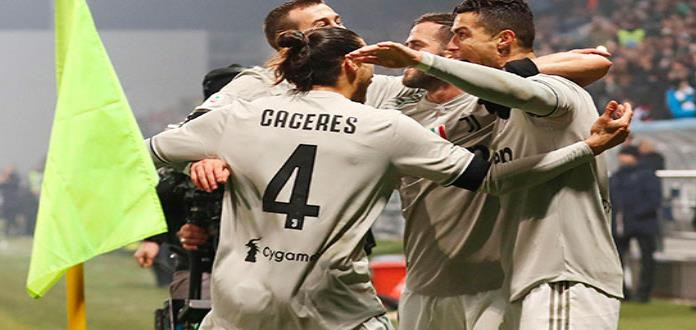 Cristiano guía a la Juve en triunfo sobre Sassuolo