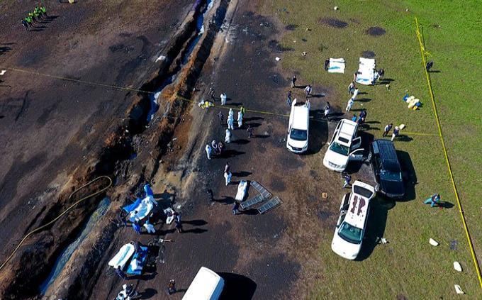 Entregan apoyos emergentes a afectados de explosión en Tlahuelilpan