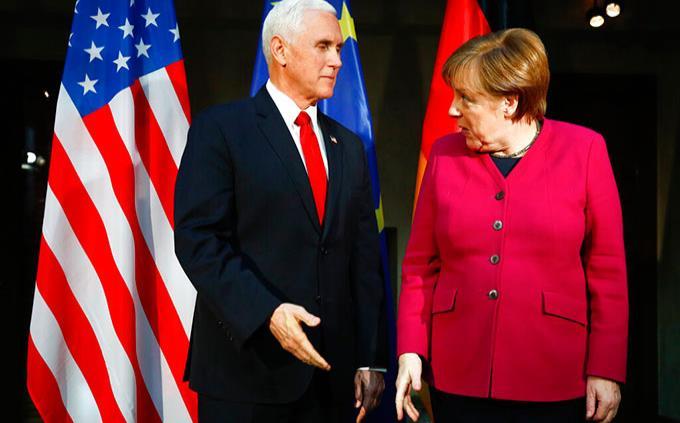 Pence urge sin éxito a Europa a alinearse con EEUU sobre Irán y Venezuela