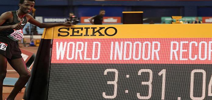 Tefera impone récord mundial en 1.500 metros bajo techo
