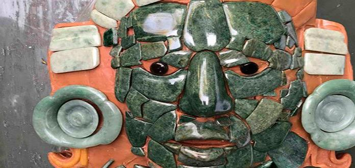 Exhiben réplica de la Máscara de Calakmul en España