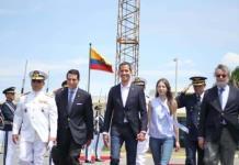 Guaidó llega a Bogotá y anuncia intención de volver a Venezuela el lunes