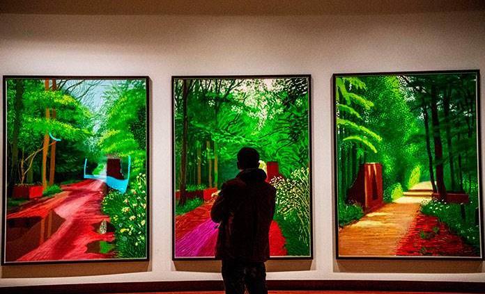 Los paisajes de Van Gogh y Hockney, cara a cara en Ámsterdam