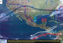 Efectos de frente frío 41 ocasionarán lluvias en oriente y centro del país