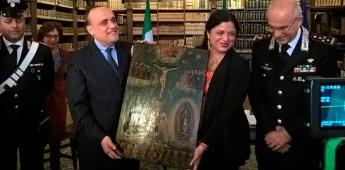 Italia devuelve a México cerca de 600 pinturas ex voto sustraídas ilegalmente