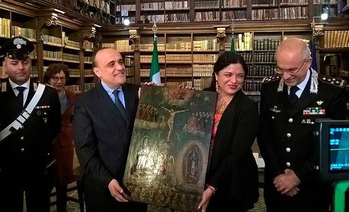Roma restituye 596 pinturas a México