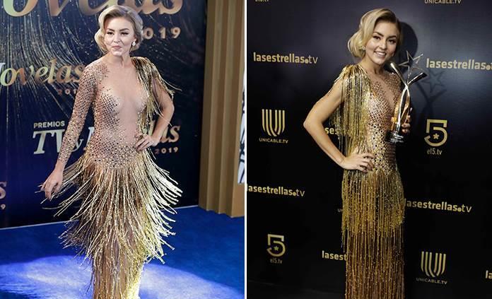 Angelique Boyer se ríe de la polémica por su vestido al revés