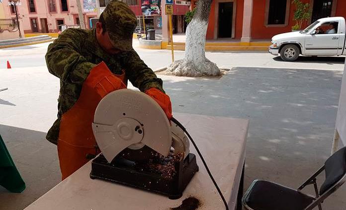 La Sedena realiza canje de armas
