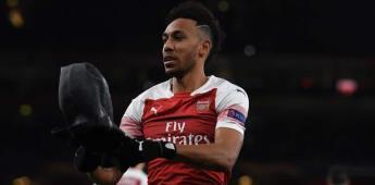 Arsenal clasifica a cuartos de Europa League con doblete de Aubameyang