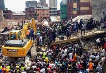 Colapsa edificio de 3 plantas en Nigeria; hay 12 muertos
