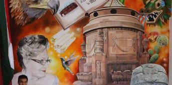 "Abel Monsiváis Juárez inauguró su mural ""Identidad"""
