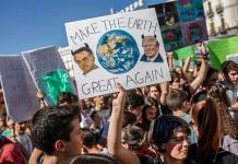 Estudiantes de todo el mundo demandan acción contra cambio climático