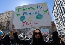 Protestan en París por el cambio climático