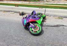 Motociclista se accidenta en el Anillo Periférico