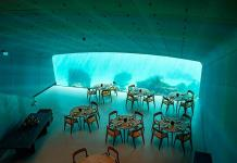 Under, el restaurante semisumergido en las heladas aguas de la costa noruega
