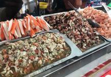 Participan más de 40 expositores en feria de pescados y mariscos