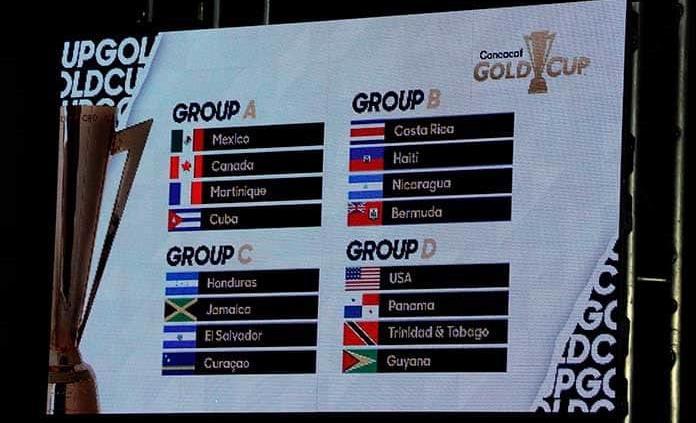 Definidos los grupos para la Copa Oro 2019