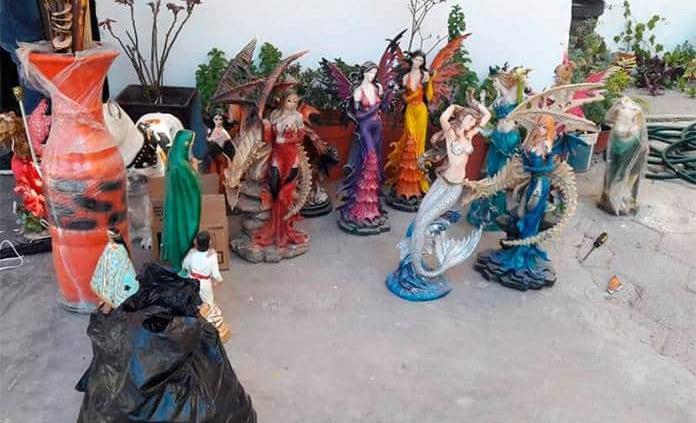 Caen dos sujetos luego de robar 10 figuras de cerámica en Arbolitos