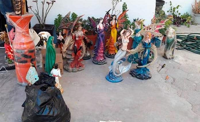Dos supuestos ladrones hurtaron figuras de cerámica